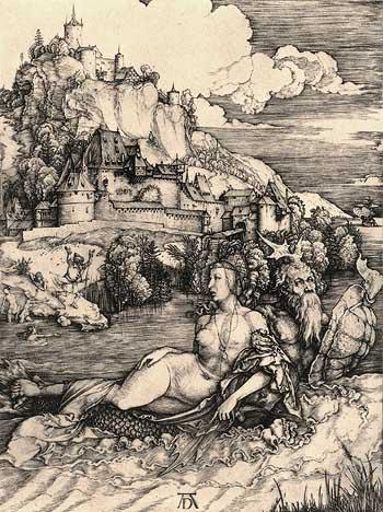 Albrecht Dürer, Das Meerwunder, um 1498, via Albrecht Dürer Apokalypse